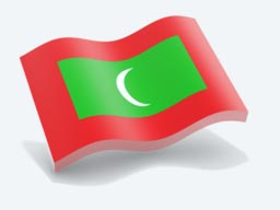 maldives glossy wave icon 256