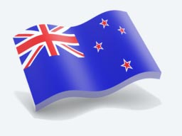 new zealand glossy wave icon 256