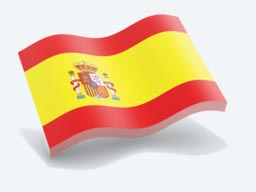 spain glossy wave icon 256