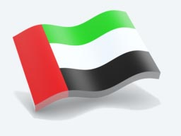 united arab emirates glossy wave icon 256